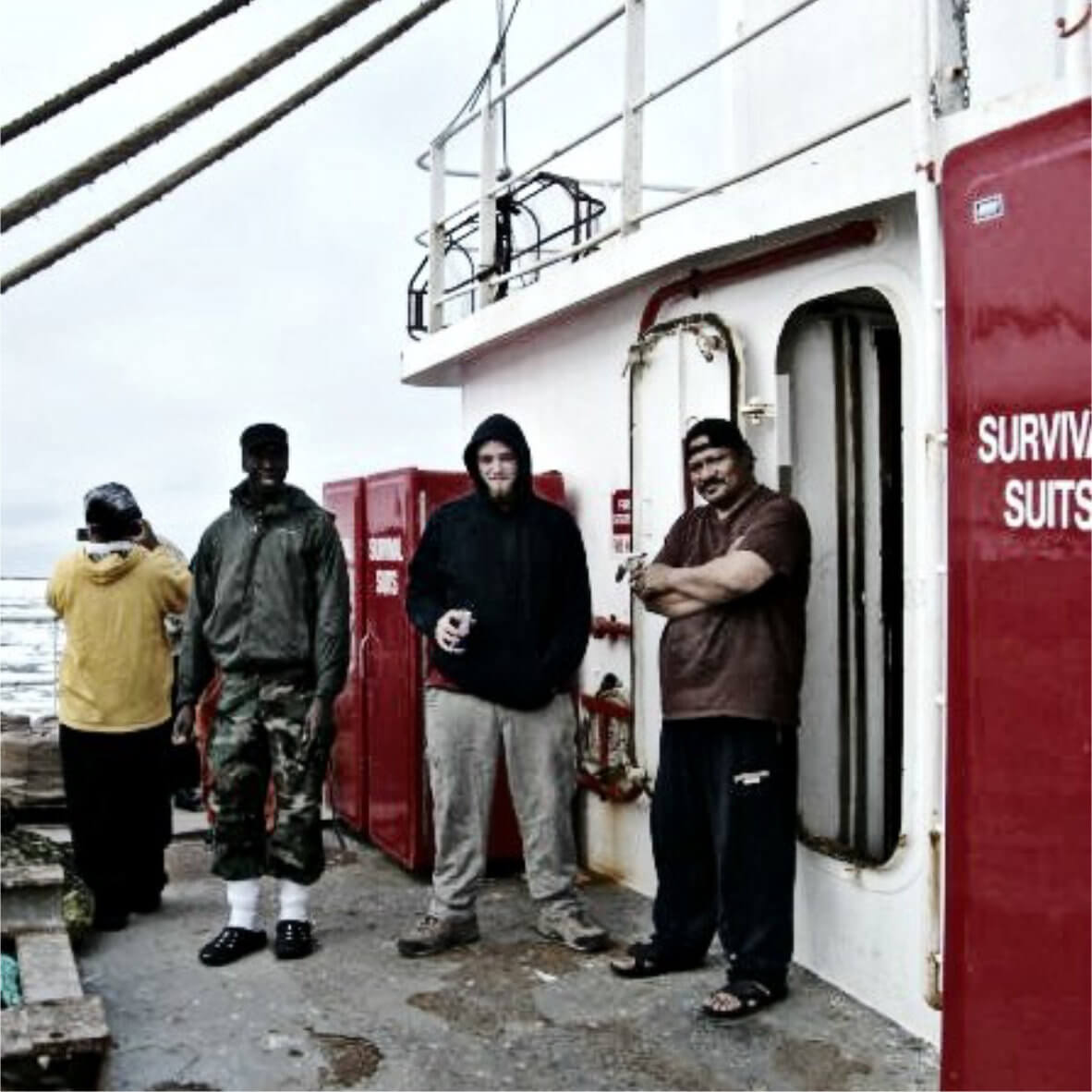 crew on a fishing boat