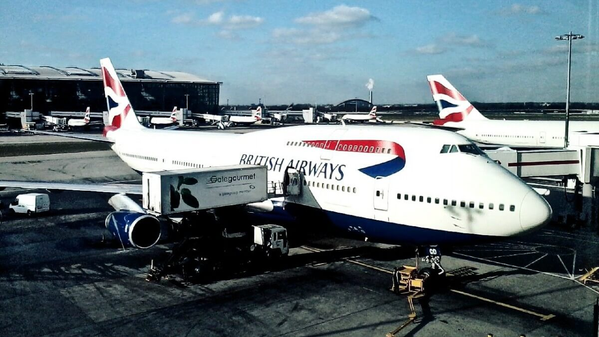747 Jumbo Jet British Airways in London, Heathrow