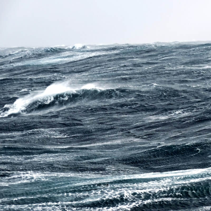 storm in the Bering Sea