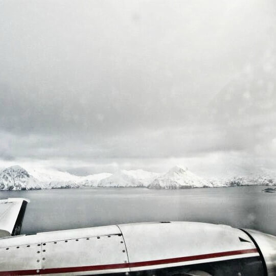 flying back to Dutch Harbor, it's damn cold outside
